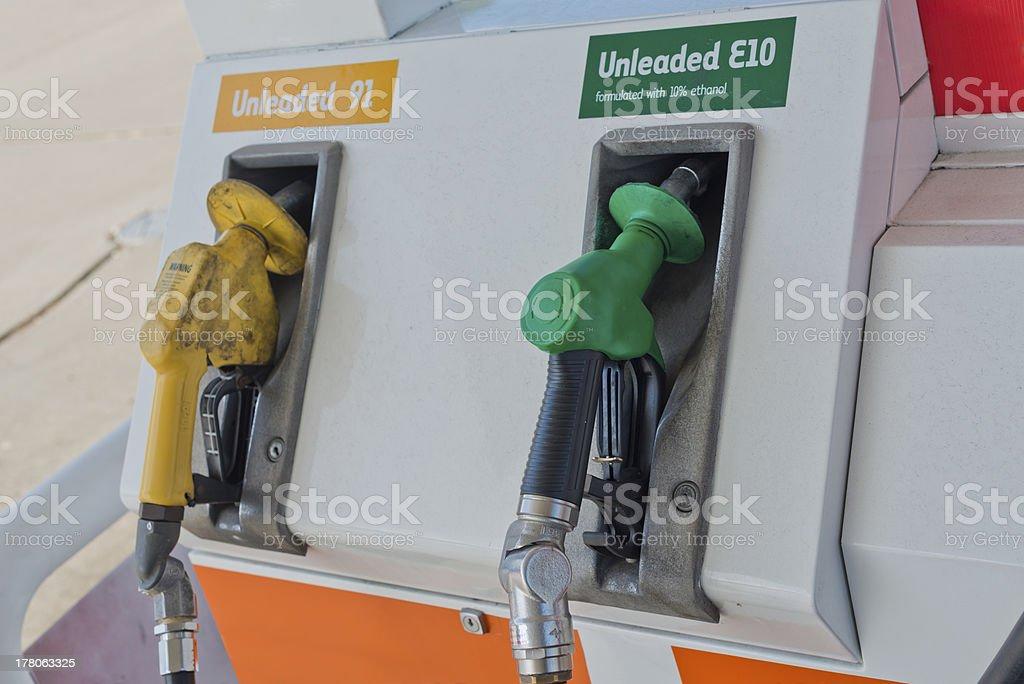 Petrol Fuel Pump Unleaded stock photo