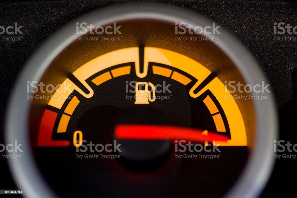 Petrol gauge showing full tank stock photo