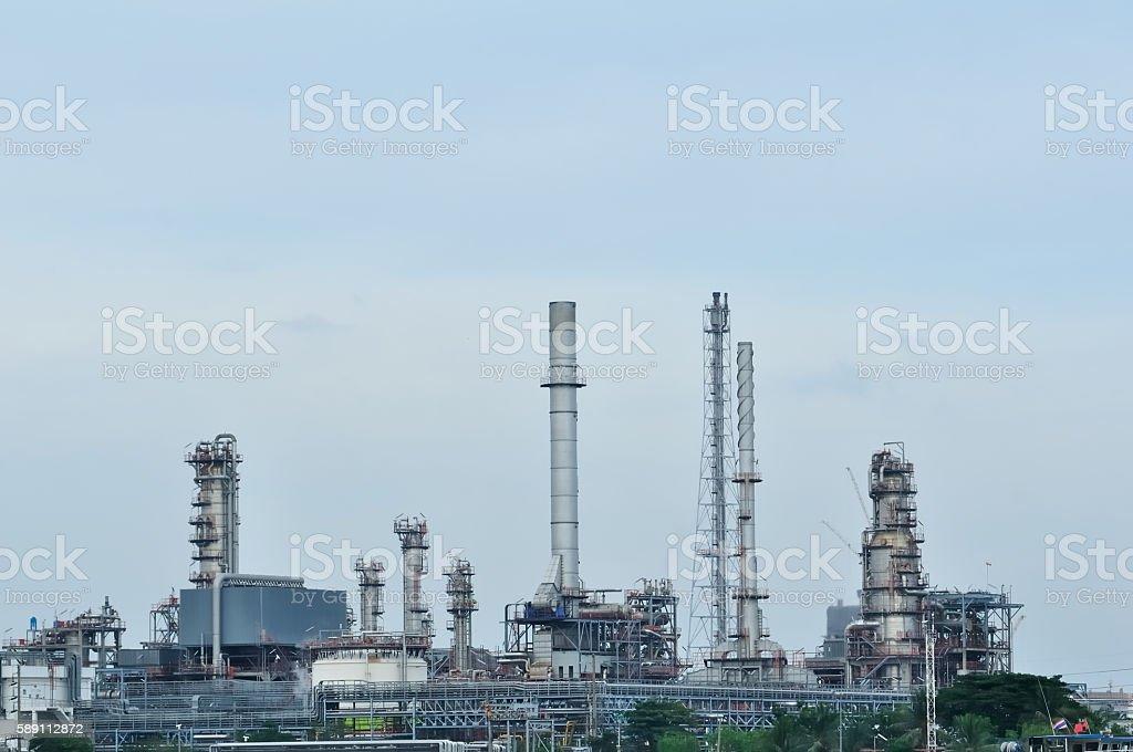 petrol industrail factory stock photo