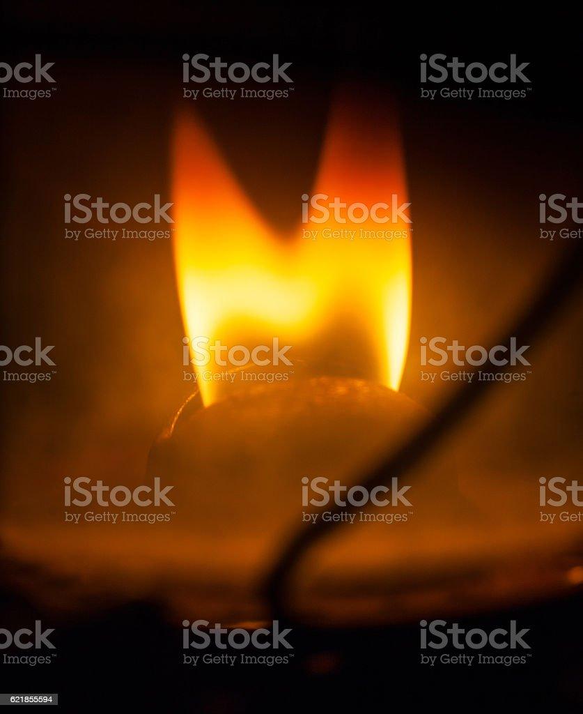 Petrol lamp flame stock photo