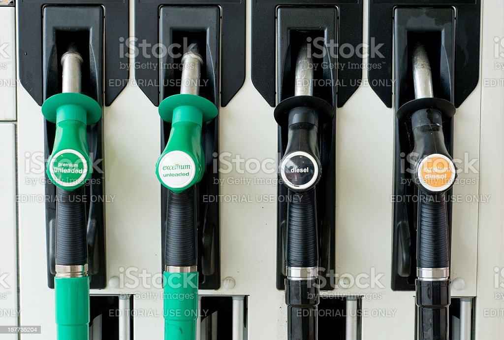 Petrol Pump Nozzles stock photo