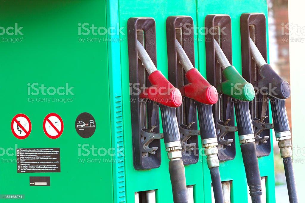 Petrol pump stock photo