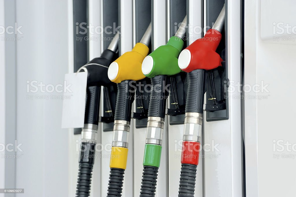 Petrol pump station stock photo