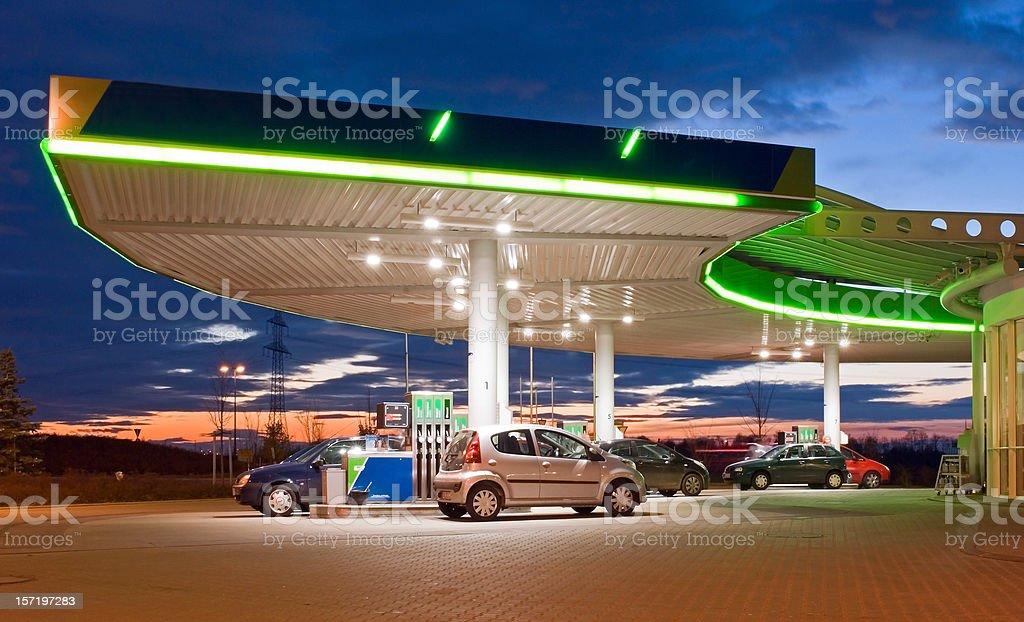 Petrol station stock photo