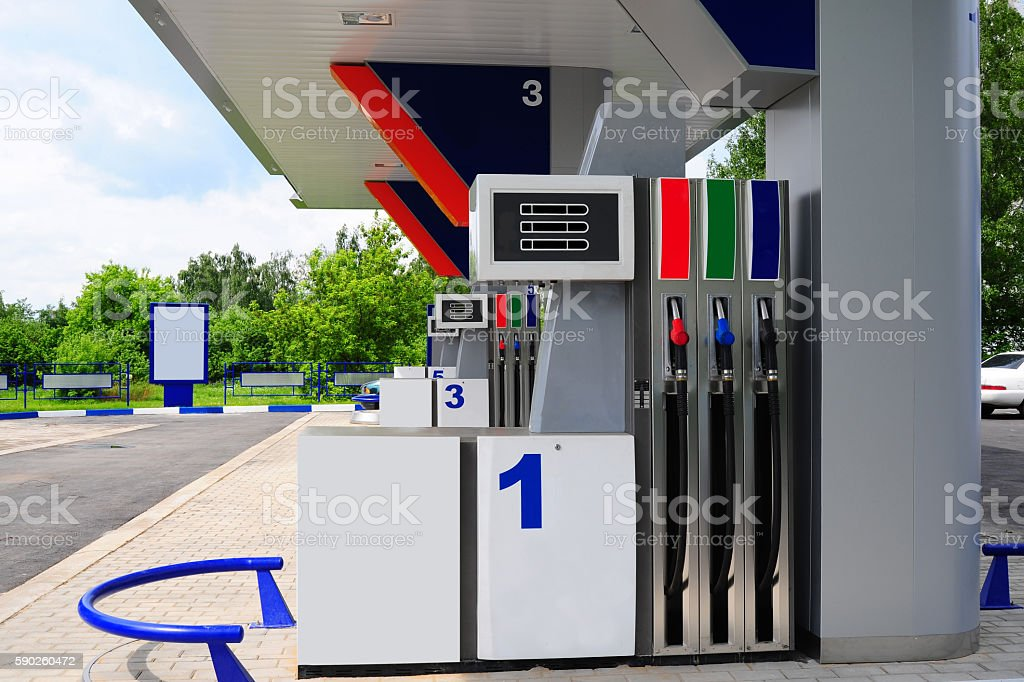 Petrol Station. stock photo