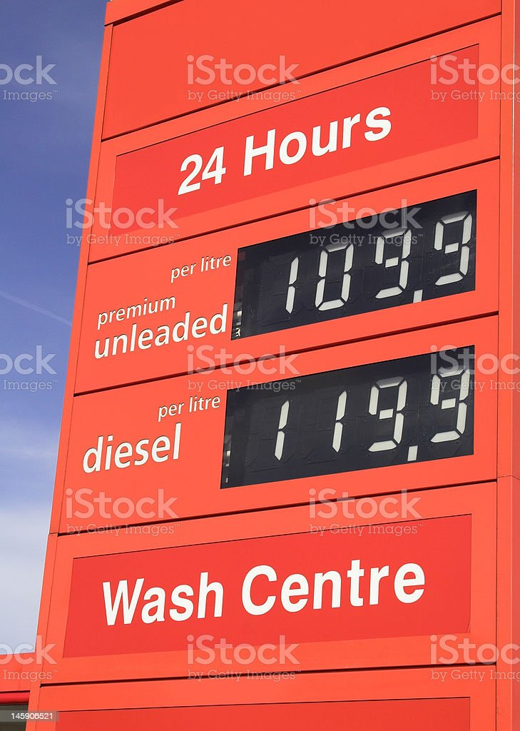 Petrol Station Sign royalty-free stock photo