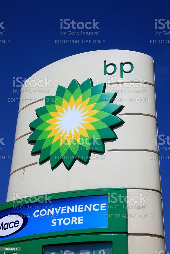 BP Petrol Station Sign royalty-free stock photo