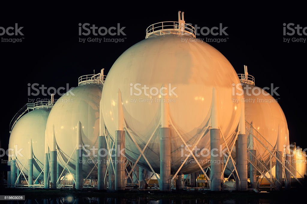 Petroleum area Storage Tanks stock photo