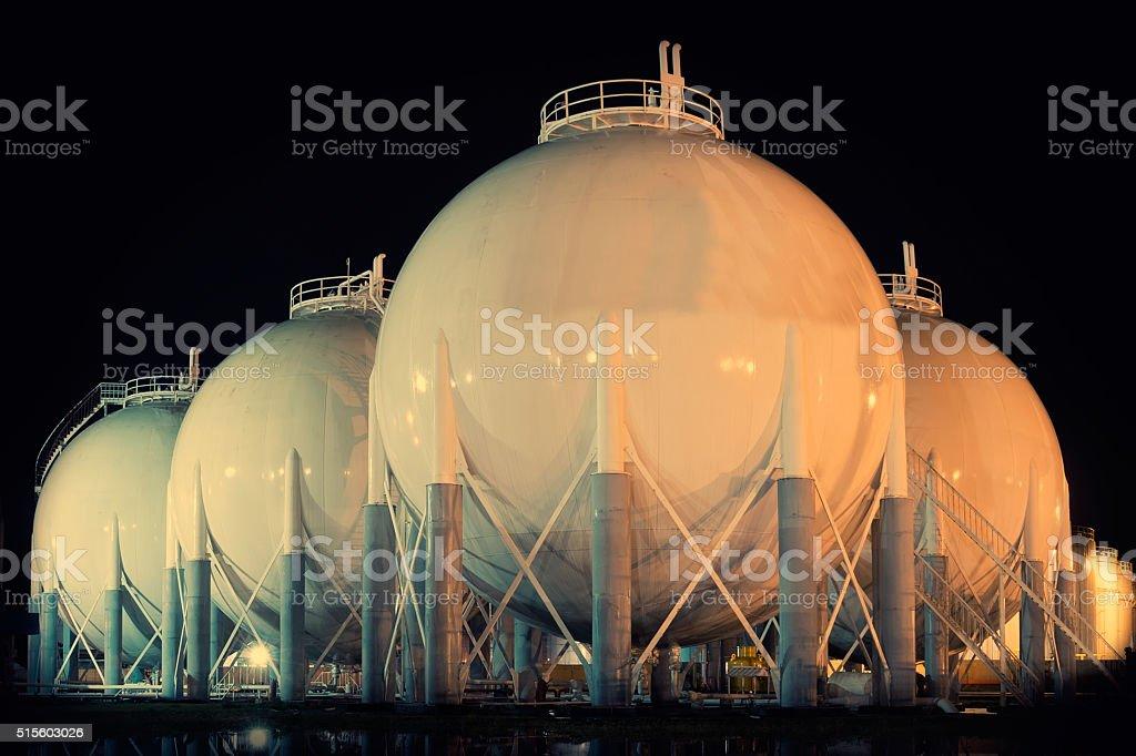 Petroleum area Storage Tanks stock photo