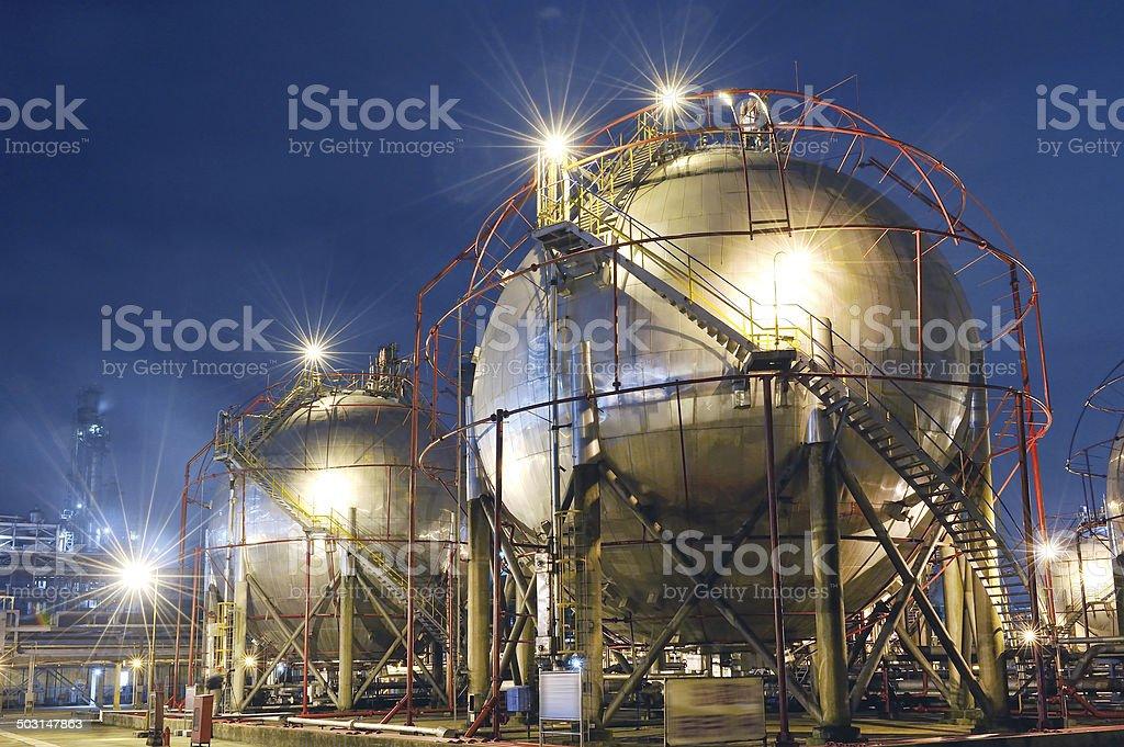 Petroleum & Fuel Storage Tank stock photo