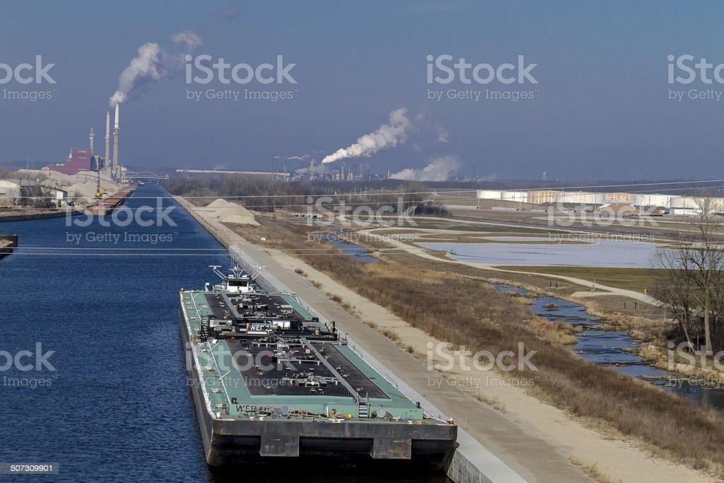 Petroleum Oil Production Plant stock photo