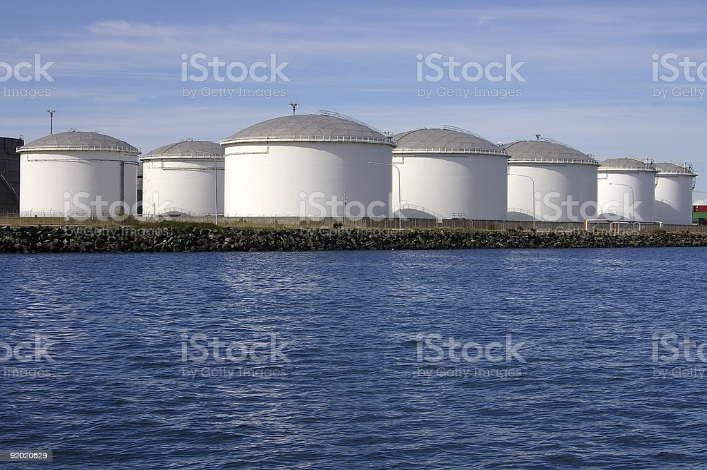 Petroleum product tanks royalty-free stock photo