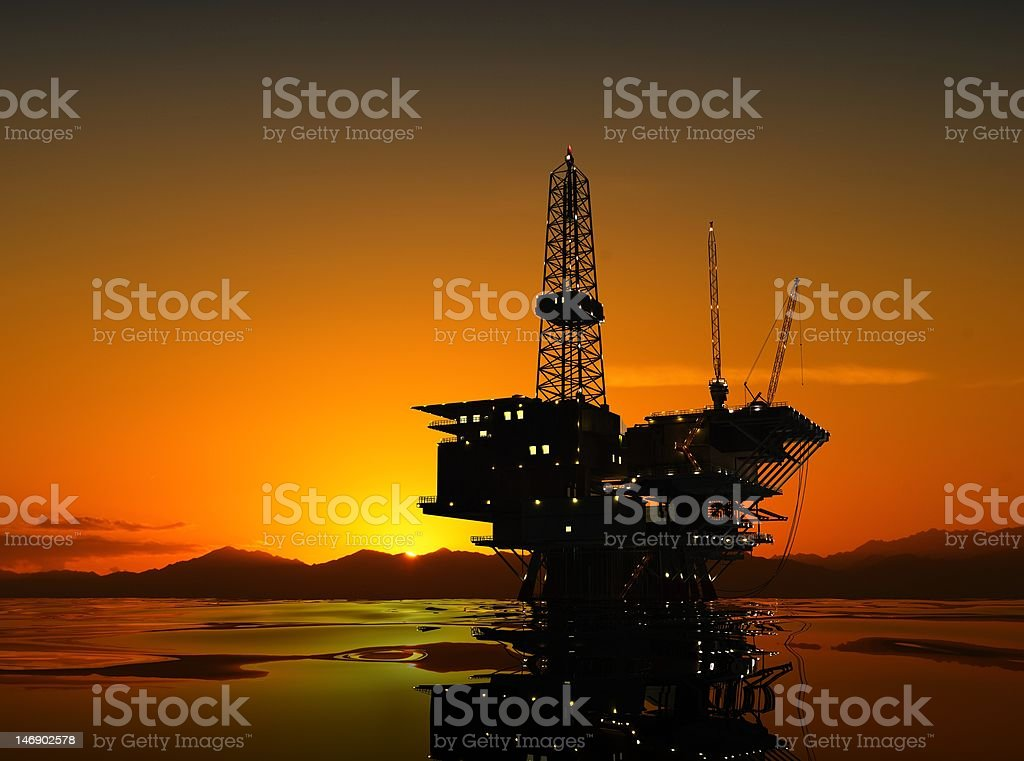 Petroleum production royalty-free stock photo
