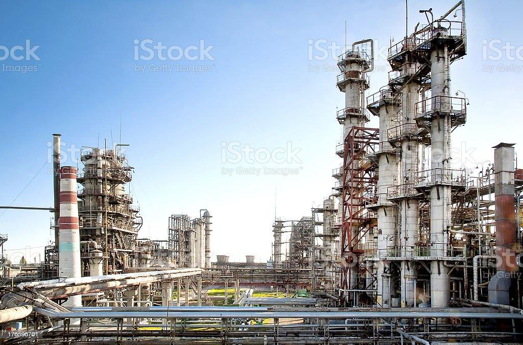 petroleum refinery stock photo