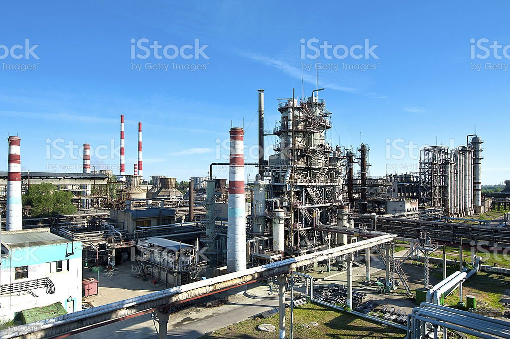 petroleum refinery royalty-free stock photo