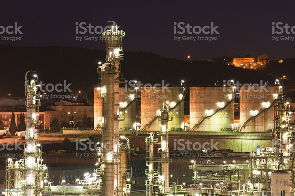 petroleum refinery royalty-free stock photo