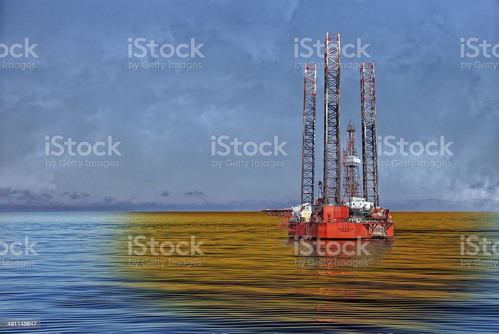 Petroleum spill stock photo