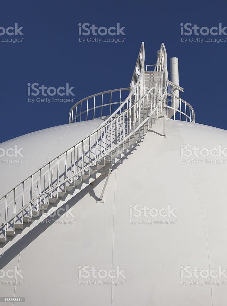 Petroleum Storage Tank on Petrochemical Plant royalty-free stock photo