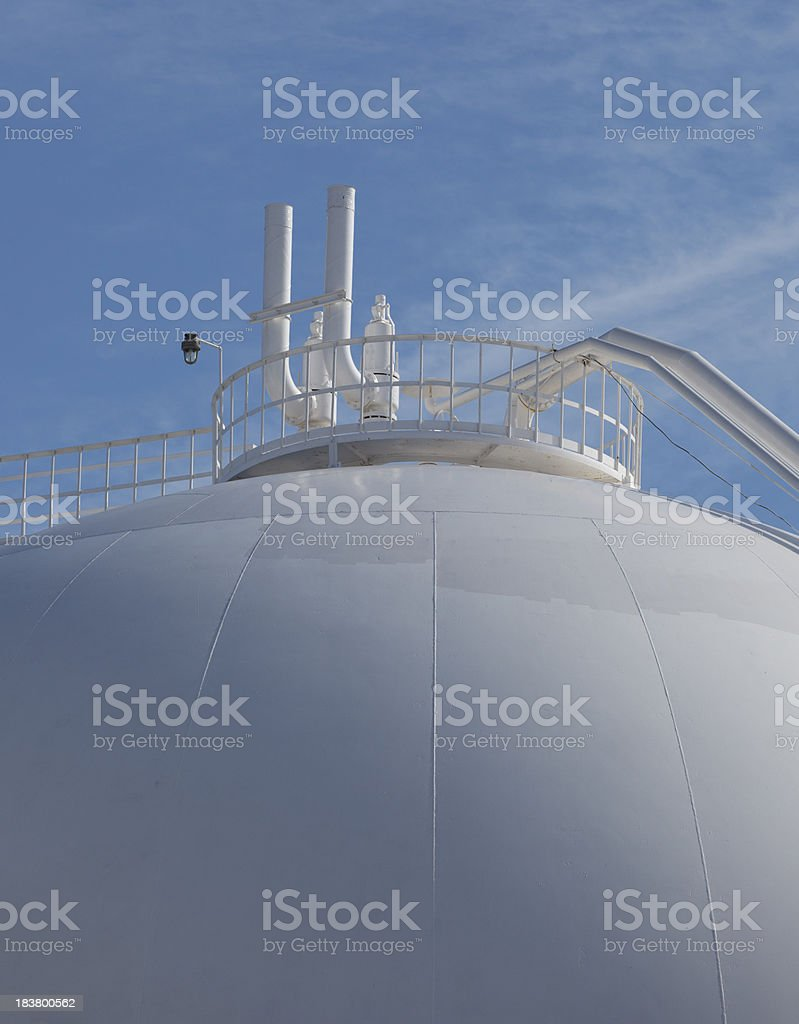 Petroleum Storage Tank on Petrochemical Plant stock photo