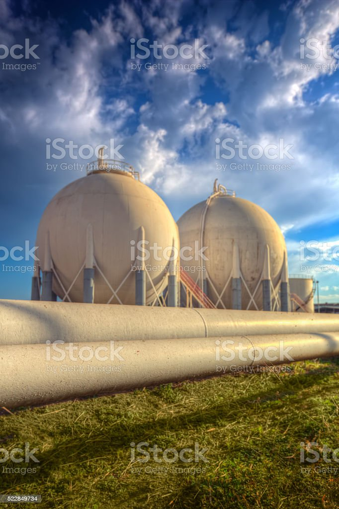 Petroleum Storage Tanks and pipelines stock photo