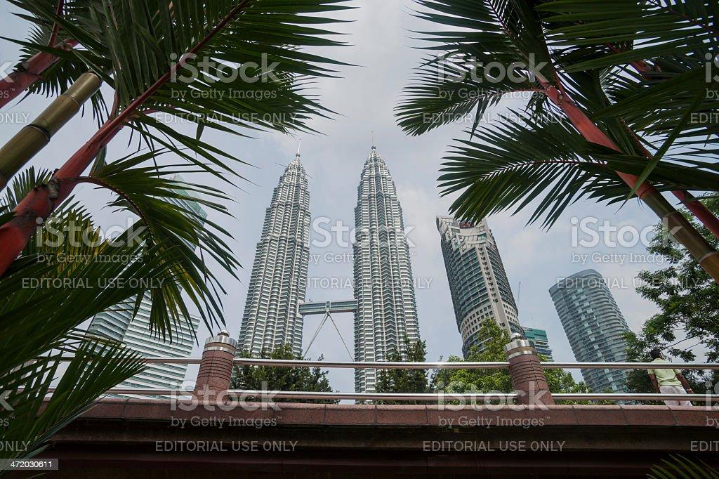 Petronas owers and gardens. royalty-free stock photo