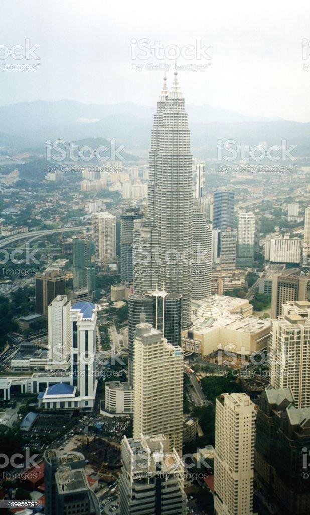 Petronas Towers and Kuala Lumpur cityscape stock photo