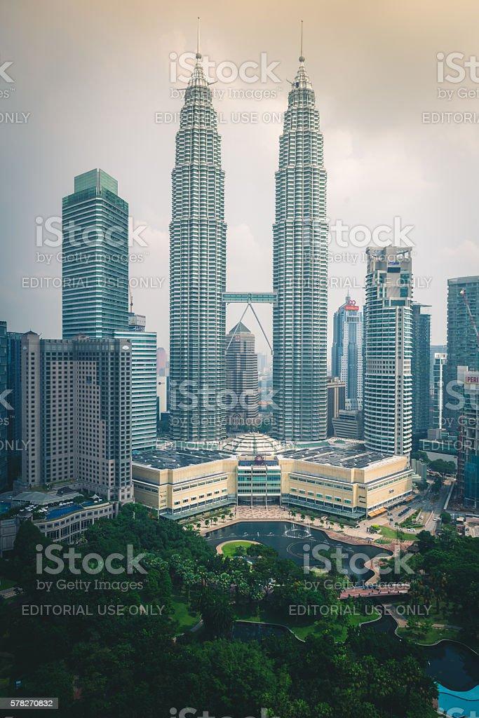 Petronas Towers In Kuala Lumpur, Malaysia royalty-free stock photo