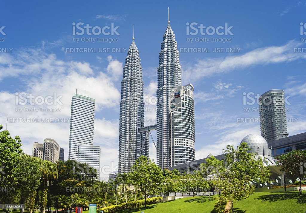Petronas towers stock photo