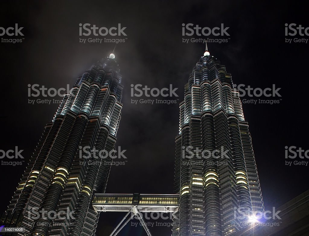 Petronas Twin Towers At Night royalty-free stock photo