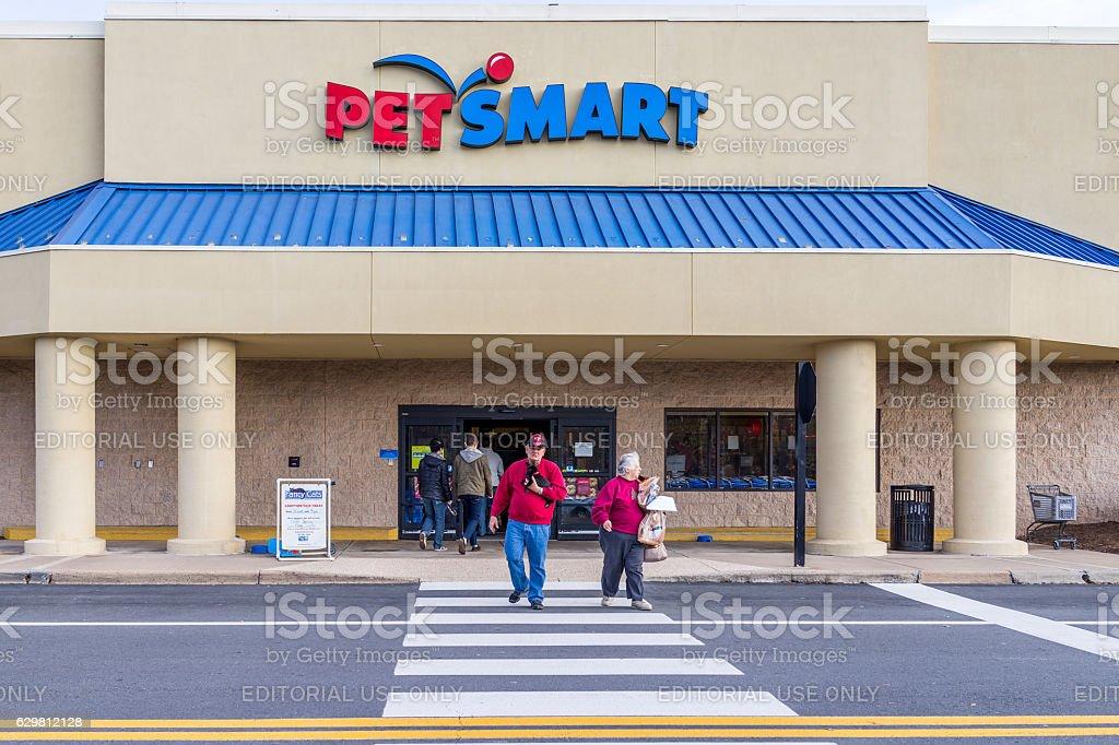 Petsmart store facade in Virginia royalty-free stock photo