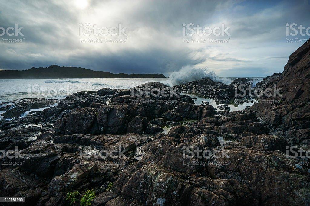 Pettinger Point, Tofino stock photo