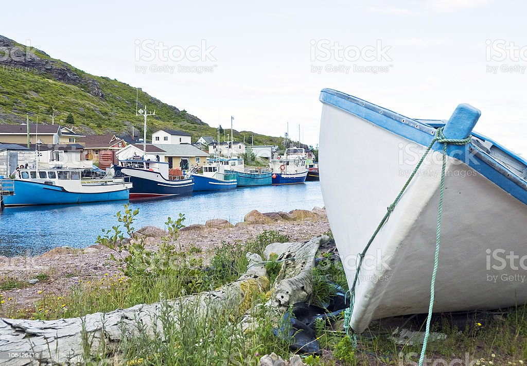 Petty Harbour Fishing Village stock photo