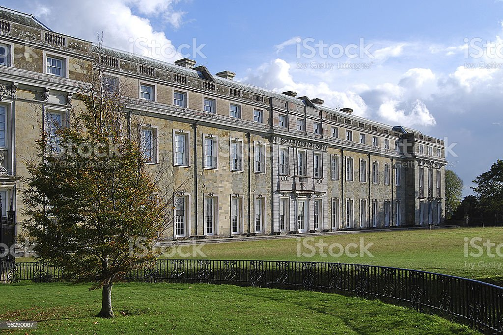 Petworth House at West Sussex, England on a sunny day royalty-free stock photo