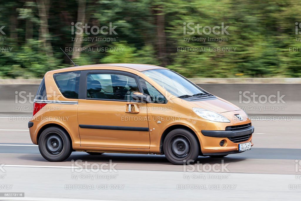 Peugeot 1007 on the road stock photo