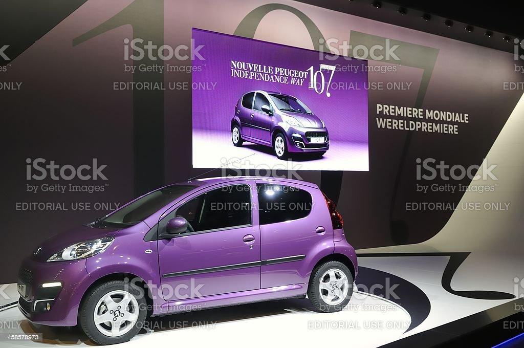 Peugeot 107 royalty-free stock photo