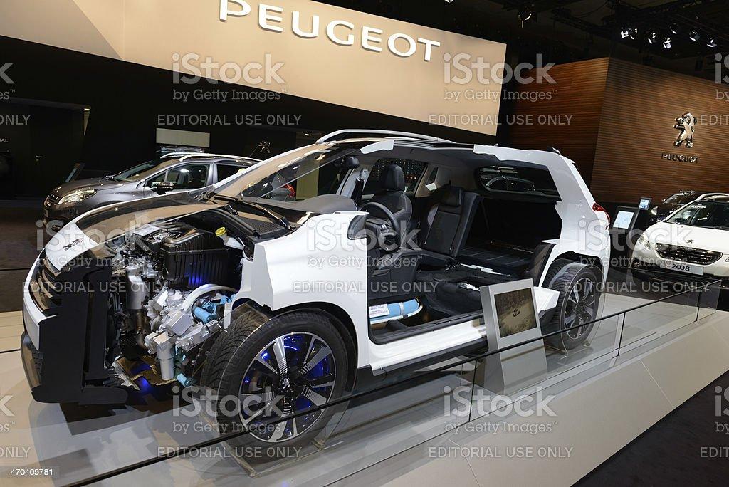 Peugeot 2008 Hybrid Air stock photo