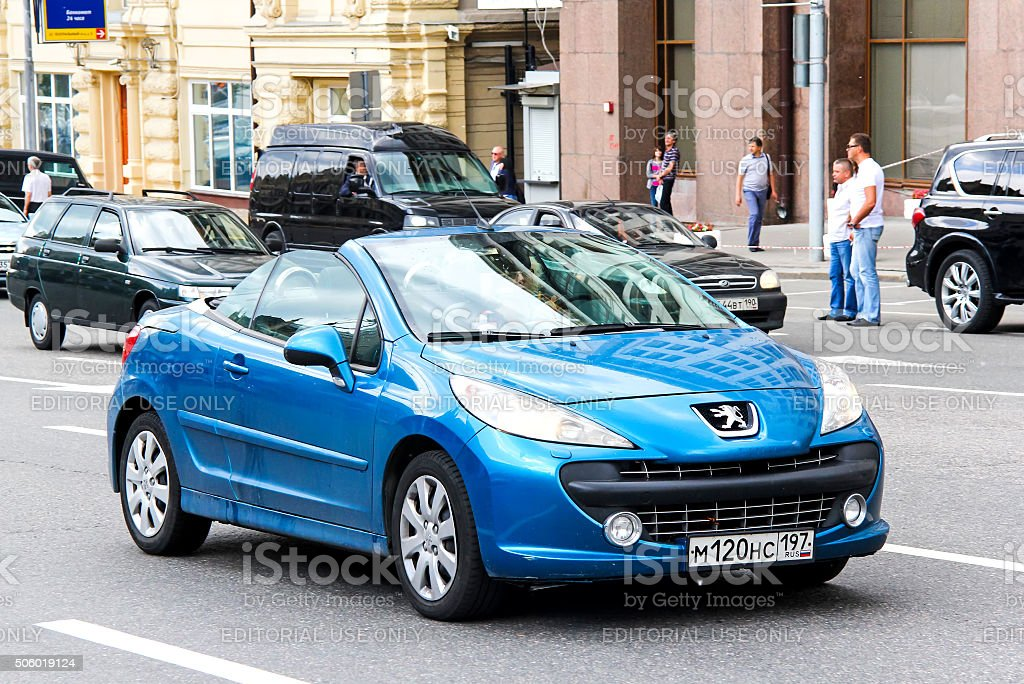 Peugeot 207CC stock photo