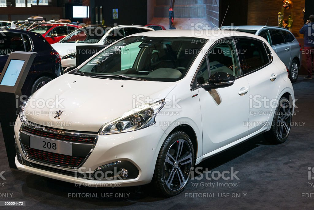 Peugeot 208 compact hatchback car stock photo