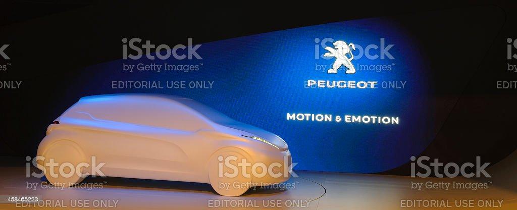 Peugeot 208 concept stock photo