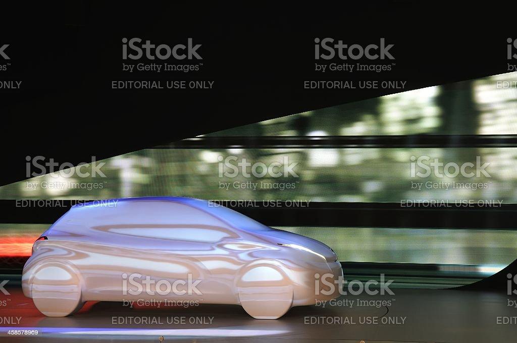 Peugeot 208 concept projection stock photo