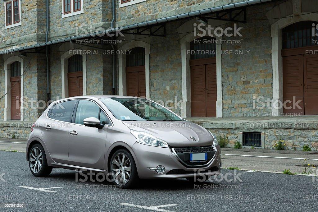 Peugeot 208 E-hdi stock photo