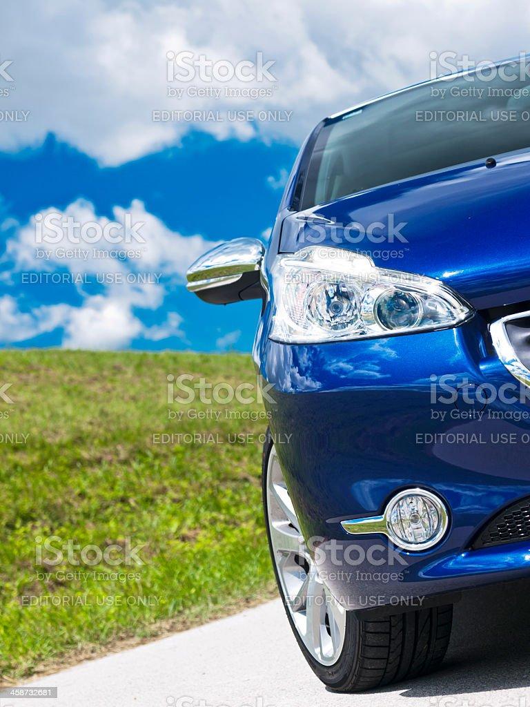 Peugeot 208 headlights stock photo