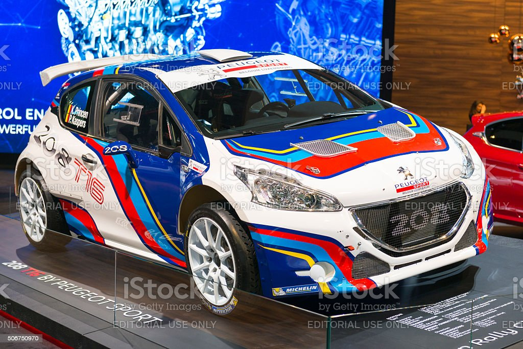 Peugeot 208 T16 rally car stock photo
