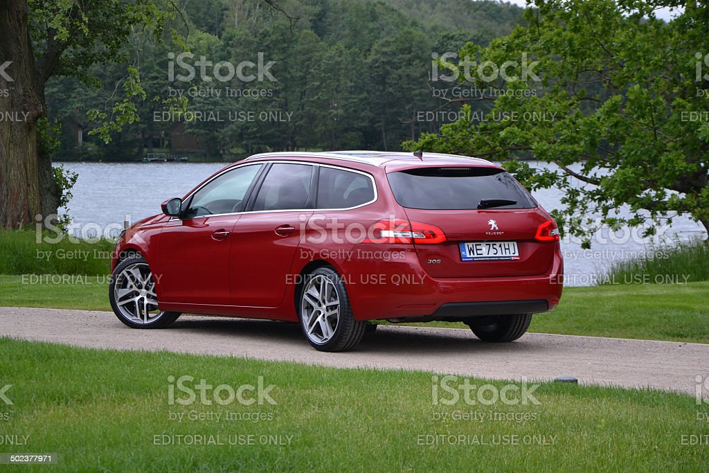 Peugeot 308 SW at the press launch stock photo
