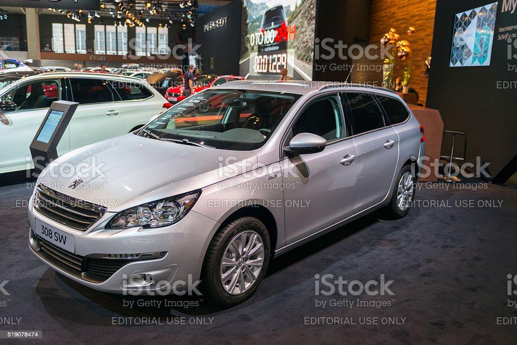 Peugeot 308 SW estate car stock photo