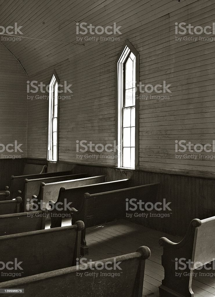 Pew stock photo