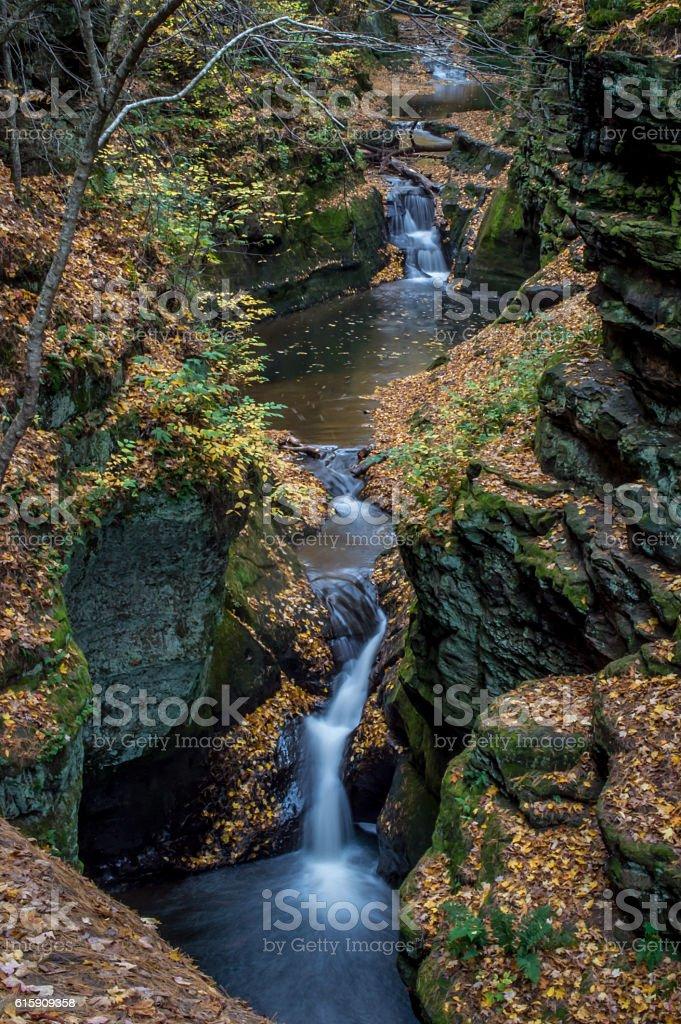 Pewits Nest Waterfall stock photo