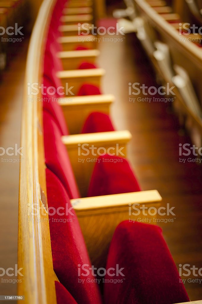 Pews-Narrow Focus royalty-free stock photo