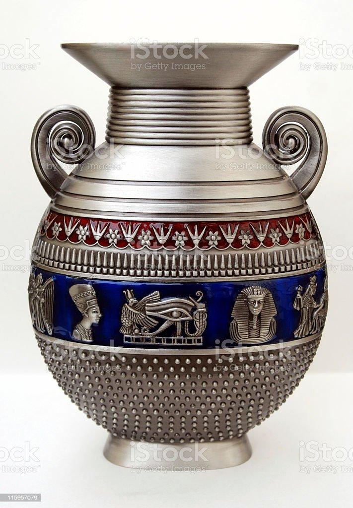 Pewter Egyptian vase stock photo