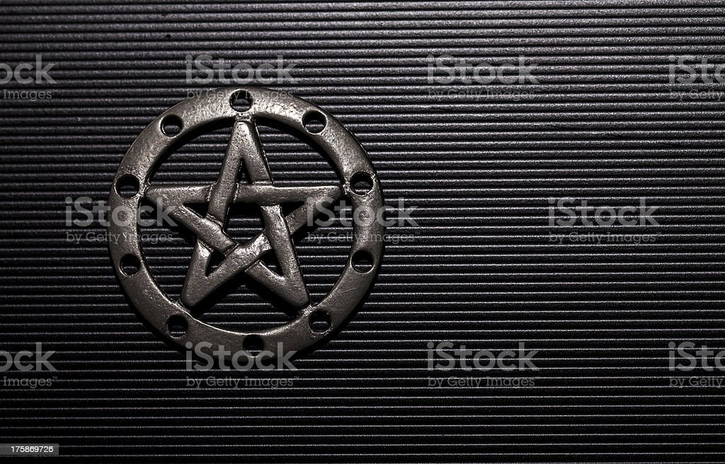 Pewter Pentacle stock photo